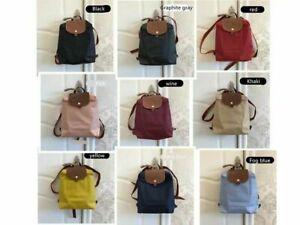 original Auth Longchamp Le Pliage Nylon Zipper Backpack Bag 10 color