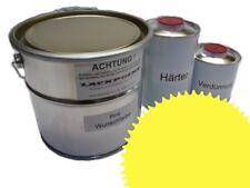 1 Litre Kit 2K Peinture Voiture Ral 1016 Jaune Soufre Eclat Aucun Vernis Tuning