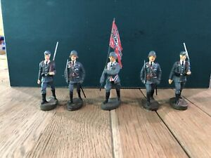 Elastolin: German Luftwaffe Color Guard.  70mm Scale. Pre War c1930s.
