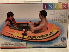 New Intex Explorer 200 Inflatable Raft Boat Pool River Lake Set w/2 Oars & Pump