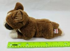 """GANZ Brown & White Boxer Dog Plush 10"""" Stuffed Animal"""