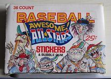 VINTAGE RARE LEAF BASEBALL AWESOME ALL STARS BUBBLEGUM STICKER FULL BOX 1988