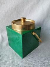 Vintage ALDO TURA Italian Mid Century Design Green Lacquered Ice Bucket 50s-60s