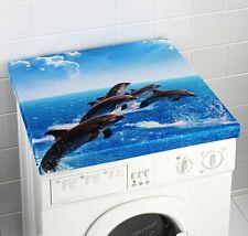 Waschmaschinenüberzug Waschmaschine Überzug Bezug Abdeckung Waschmaschinenbezug