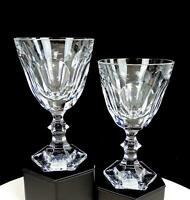"""ROYALES DE CHAMPAGNE SIGNED FRENCH CRYSTAL VERSAILLES 2PC 6 1/8"""" WINE GLASSES"""