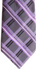 """Platinum Design Men's Silk Tie 60"""" X 3.75"""" Multi-Color Plaid"""