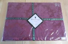 Set Of Four Waterford Linens Wiltshire Placemats - Ruby (BNWT)