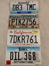 SET OF 4 X ASSORTED STATES GENUINE Pre-Owned USA License Plates - PICK YOUR OWN