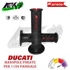 Manopole Forate 120 mm SuperBike Gel Grips per Moto Ducati 1199 Panigale R