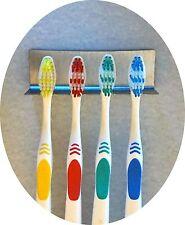 Zahnbürstenhalter aus Edelstahl für 4 Zahnbürsten o. Aufsteckbürsten oral b