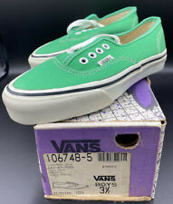 Vintage Vans Made In USA Emerald Boys Sz 3 1/2 3.5 80's 90's NOS Authentic 44