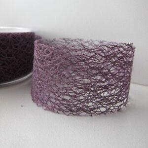 38mm Mesh Ribbon - Grape - 1/5/10/20 metre/roll wedding / craft / invitation