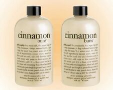 Philosophy Cinnamon Buns Shampoo Shower Gel & Bubble Bath Duo (16 OZ) New/Sealed