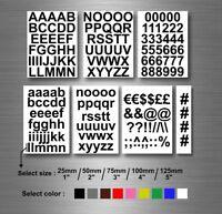 Lot autocollant sticker numero nombre lettre alphabet couleur et taille au choxi