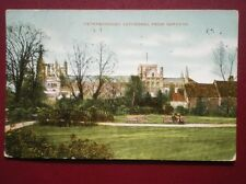 POSTCARD CAMBRIDGESHIRE PETERBOROUGH - CATHEDRAL FROM GARDENS