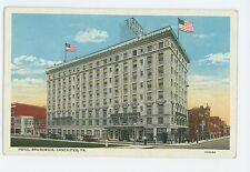 Hotel Brunswick, Old Cars in LANCASTER PA Vintage Pennsylvania Postcard 2