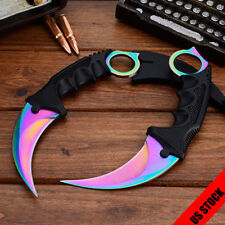 CSGO Knife Karambit Fixed Blade Sharp Knifes Outdoor Hunting Saber With Sheath