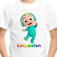 Cocomelon Kids T-Shirt Tee Birthday Gift Nursery Rhymes JJ Johnny Boys Girls