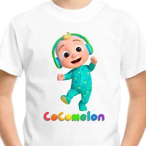Cocomelon Kids T-Shirt Tee Birthday Gift Nursery Rhymes JJ Johnny Boys Girls