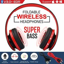 Wireless Bluetooth Stereo Headphones Over Ear Noise Cancelling Headset With Mic