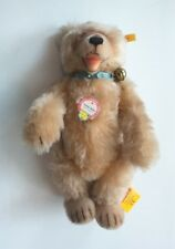 "STEIFF 11"" Blond Mohair Jointed Bear, Teddy Baby #407833, Button & Tag"