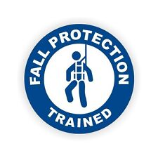 Fall Protection Trained Safety Hard Hat Helmet Stickers Labels Harness Scaffold