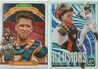 2020 DONRUSS OPTIC Buster Posey San Francisco Giants ILLUSIONS & DIAMOND KINGS