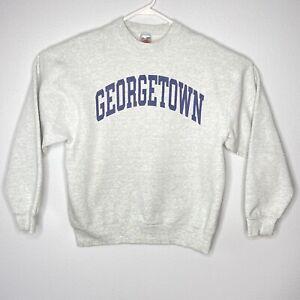 Vintage Georgetown Crewneck Sweatshirt Men's Large Gray Bulldogs USA
