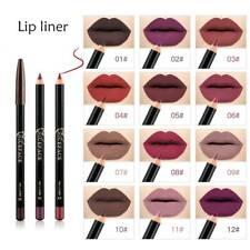 12 Color Cosmetics Makeup Waterproof Multifunction Eye Liner Lip Eyeliner Pencil