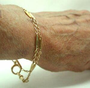 Lovely Antique Ladies 9 carat Rose Gold Double Row Albert Bracelet