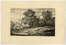 Antique Master Print-LANDSCAPE ETCHING-Ponthus-Cinier-ca. 1881