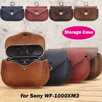Leather Storage Bag Earphones Cover Travel Protective Case for Sony WF-1000XM3