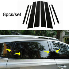 CAR WINDOW PILLAR POSTS TRIM COVER MOLDING 8PCS FIT FOR TOYOTA RAV4 2013-2018