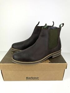 Barbour Farsley Leather Chelsea Leather Boots Size UK 11