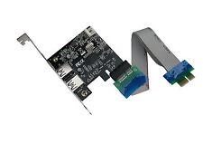 Carte Contrôleur USB 3.0 Avec Riser PCIe- 2 ports USB3 - Chipset NEC