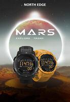 NORTH EDGE MARS Digital Sports Watch Military Wirstwatch Pedometer Stopwatch