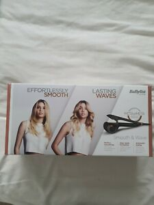 BaByliss 2662U Smooth and Wave Styler - Black - New with heat protector mat