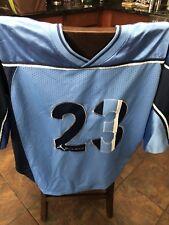 2003 Nike Michael Jordan 23 Jumpman Pro Football Jersey 184428 448 Blue Xl Euc