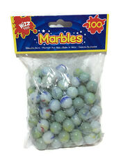 Marbles Coloured Kids Glass Toys Games Party Assorted Colours Milky Effect Gift