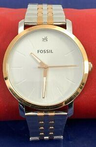 Fossil UHR Silber Gold Herrenuhr watch style BQ2417 NEU OVP 159€ stainless steel