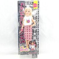 Barbie Fashionistas Doll 31 Rock 'N' Roll Plaid Petite Skirt Mattel