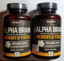 2 Onnit Alpha Brain 2X90 Capsules - Support Memory & Focus  Manufactured 5/19