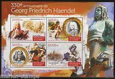 GUINEA  330th BIRTH  ANNIVERSARY OF GEORG FRIEDRICH HAENDEL SHEET   MINT NH