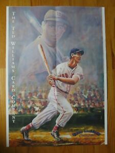 1993 TED WILLIAMS No. 9 BOSTON RED SOX Card Company Poster by GENE LOCKLEAR