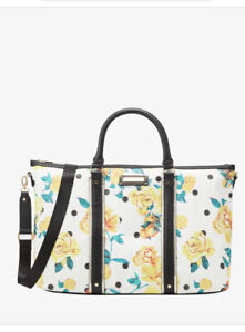 River island BLACK FLORAL HOLDALL BAG - Gym Weekend bag new with tags