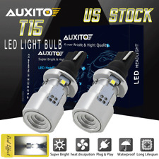 CANBUS 921 912 T15 Super Bright 6500K White SMD LED Bulbs Back Up Reverse Light