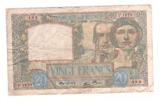 Billet 20 francs Science et Travail, 1940,TTB-