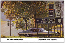 24x36 1968 Pontiac GTO Woodward Detroit Poster Ad Art Print Ram Air The Judge