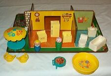 RARE FISHER PRICE LITTLE PEOPLE PLAY FAMILY 909 ROOMS PLAYSET