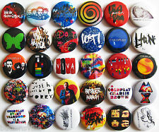 COLDPLAY Button Badges Pins Parachutes Mylo Xyloto Ghost Stories Viva la Vida